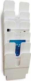 Durable Prospekthalter Flexiplus 6, A4 Hochformat, 6 Fächer, weiß (1700008011)