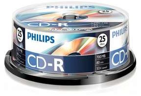 Philips CD-R 80min/700MB,  25er-Pack (CR7D5NB25)