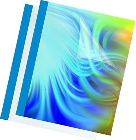 Fellowes Thermobindemappe A4, 150µm, blau matt, 32 Blatt, 100 Stück (53176)