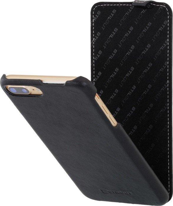stilgut ultraslim nappa f r apple iphone 7 plus schwarz. Black Bedroom Furniture Sets. Home Design Ideas