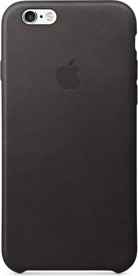 Apple Leder Case für iPhone 6s schwarz (MKXW2ZM/A)