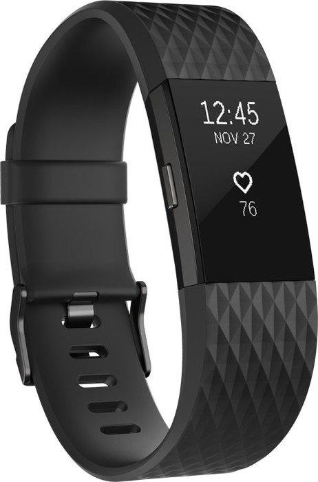 Fitbit Charge 2 Small Aktivitäts-Tracker schwarz/metallisches blaugrau (FB407GMBKS)