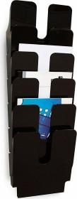 Durable Prospekthalter Flexiplus 6, A4 Hochformat, 6 Fächer, schwarz (1700008061)