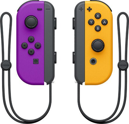Nintendo Joy-Con controller neon lilac/neon orange, 2 pieces (switch)