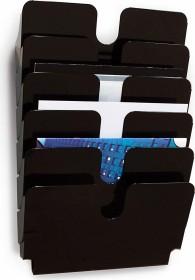 Durable Prospekthalter Flexiplus 6, A4 Querformat, 6 Fächer, schwarz (1700014061)