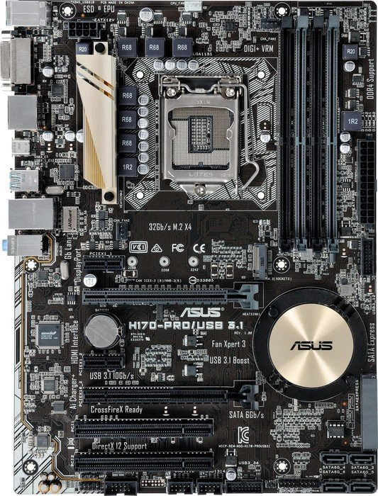 ASUS H170-Pro/USB 3.1 (90MB0PS0-M0EAY0)