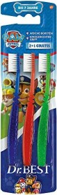 Dr.Best Paw Patrol Kinder-Handzahnbürste weich, 3 Stück