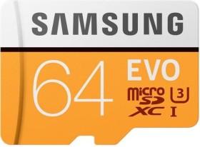 Samsung R100 microSDXC EVO 2017 64GB Kit, UHS-I U3, Class 10 (MB-MP64GA)
