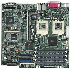 Supermicro P3TDER, Serverworks III HE-SL, Dual Channel U160, VGA (Dual FC-PGA2)