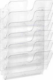 Durable Prospekthalter Flexiplus 6, A4 Querformat, 6 Fächer, transparent (1700014401)