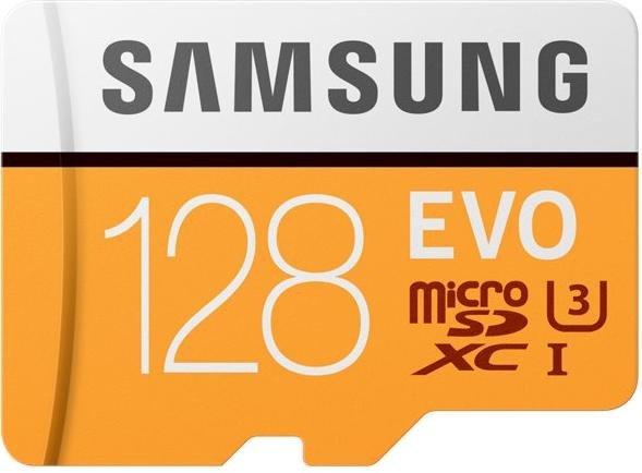 Samsung R100 microSDXC EVO 2017 128GB Kit, UHS-I U3, Class 10 (MB-MP128GA)