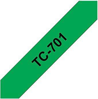 Brother TC-701 12mm, black on green -- via Amazon Partnerprogramm