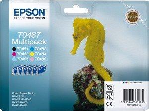 Epson Tinte T0487/T0481BA/T0481A0 Multipack (C13T04874010/C13T048140BA/C13T048140A0)