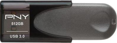 PNY Attaché 4 schwarz 512GB, USB-A 3.0 (FD512ATT430-EF)