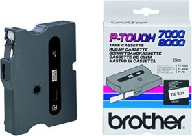 Brother TX-231 label-making tape 12mm, black/white (TX231)