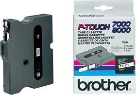 Brother TX-231 12mm, weiß auf schwarz (TX231)