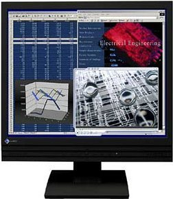 "Eizo FlexScan L557-K black, 17"" 1280x1024, analog/digital, audio"