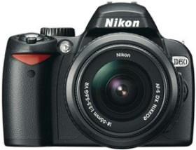 Nikon D60 schwarz mit Objektiv AF-S VR DX 18-55mm 3.5-5.6G Fatbox (VBA210KG12)