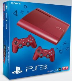 Sony PlayStation 3 Super Slim - 12GB Bundle inkl. 2 Controller rot