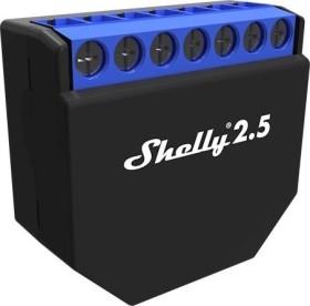 Shelly 2.5, WLAN-Funkschalter mit Strommesssensor, 2-Kanal, Unterputz, Schaltaktor (20185)