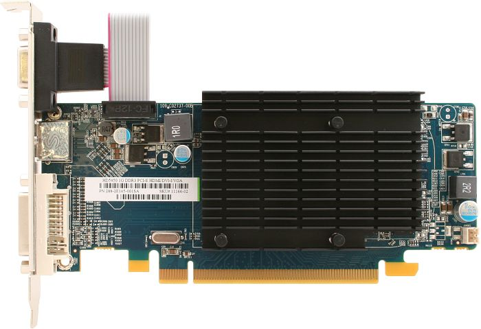 Sapphire Radeon HD 5450 190mm, 1GB DDR3, VGA, DVI, HDMI, lite retail, low profile (11166-02-20R)
