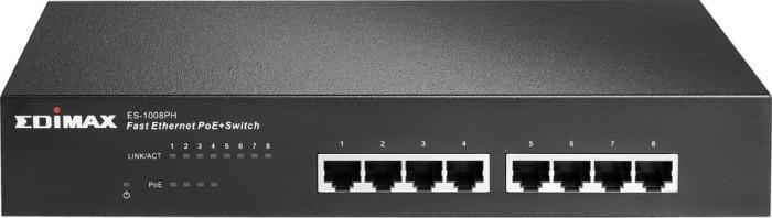Edimax ES-10 Desktop Switch, 8x RJ-45, PoE+ (ES-1008PH)