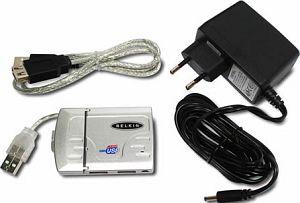 Belkin Hi-Speed USB 2.0 Kompakt Hub silber 4-port (F5U238EASLV-MOB)