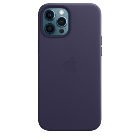 Apple iPhone 12 Pro Max Leather Case with MagSafe Deep Violet (MJYT3ZM/A)