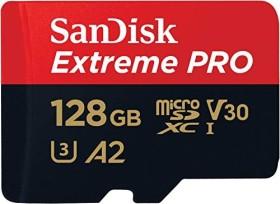 SanDisk Extreme PRO R170/W90 microSDXC 128GB Kit, UHS-I U3, A2, Class 10 (SDSQXCY-128G-GN6MA)