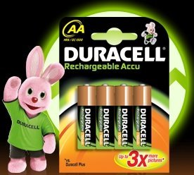 Duracell Rechargeable Mignon AA NiMH Akku 1700mAh, 4er-Pack