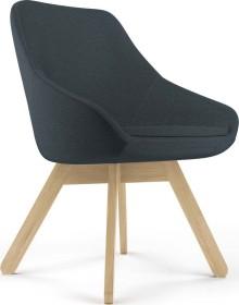 Viasit Calyx Loungesessel Holzgestell Eiche matt, Bezug Step schwarz (CA-H5000)