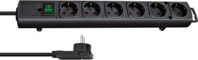 Brennenstuhl Comfort-Line Plus H05VV-F 3G1,5 6-way black, 2m (1153300100)