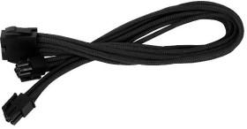 SilverStone PP07-EPS8B, 4/8-Pin EPS12V Verlängerung 30cm, sleeved schwarz (SST-PP07-EPS8B/40085)