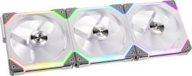 Lian Li Uni Fan SL120 RGB, weiß, 120mm, 3er-Pack, LED-Steuerung (UF-SL120-3W)