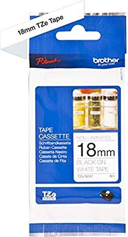 Brother TZ-N241/TZe-N241 18mm, black on white, not laminated -- via Amazon Partnerprogramm