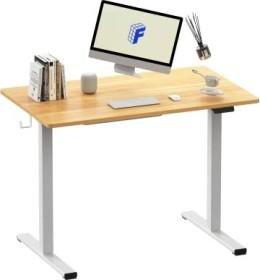 FlexiSpot EF1 100x60cm Sitz-Steh-Schreibtisch, Ahorn/weiß