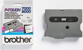 Brother TX-251 label-making tape 24mm, white/black (TX251)