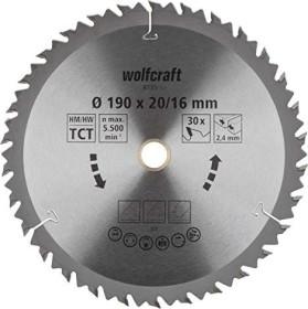 Wolfcraft Serie Braun Kreissägeblatt 190x2.4x16mm 30Z, 1er-Pack (6735000)