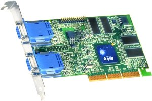 Matrox Millennium G450, 32MB DDR, 2x VGA, TV-out (G45FMDHA32DBF)