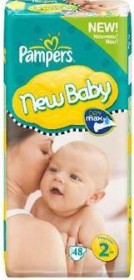 Pampers Premium Protection New Baby Gr.2 Einwegwindel, 3-6kg, 48 Stück