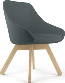 Viasit Calyx Loungesessel Holzgestell Eiche matt, Bezug Step dunkelgrau (CA-H5000.2)