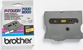 Brother TX-621 Beschriftungsband 9mm, gelb auf schwarz (TX621)