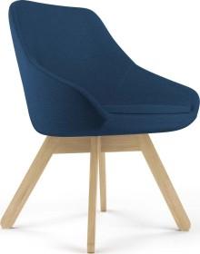 Viasit Calyx Loungesessel Holzgestell Eiche matt, Bezug Step violett (CA-H5000.5)