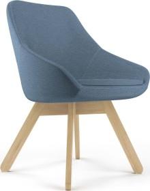 Viasit Calyx Loungesessel Holzgestell Eiche matt, Bezug Step blau-schwarz (CA-H5000.6)