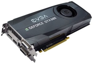 EVGA GeForce GTX 680, 2GB GDDR5, 2x DVI, HDMI, DisplayPort (02G-P4-2680-KR)