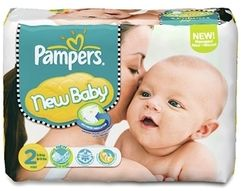 Pampers Premium Protection New Baby Gr.2 Einwegwindel, 3-6kg, 80 Stück