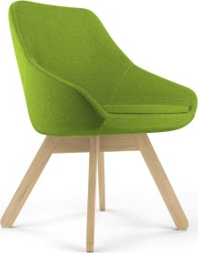 Viasit Calyx Loungesessel Holzgestell Eiche matt, Bezug Step grün-schwarz (CA-H5000.9)
