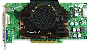 Leadtek WinFast A400 TDH, GeForce 6800, 128MB DDR, DVI, TV-out, AGP