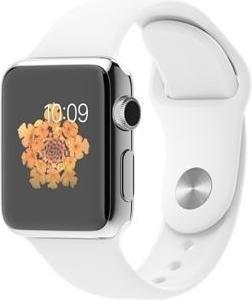 Apple Watch Series 1 38mm mit Sportarmband silber/weiß (MJ302FD)