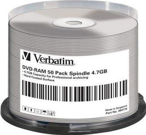 Verbatim DVD-RAM single sided 4.7GB  3x, 50er Spindel (94176)